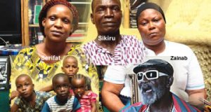 Fatai Rolling Dollar and his family