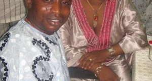 Laide Bakare with ex-husband