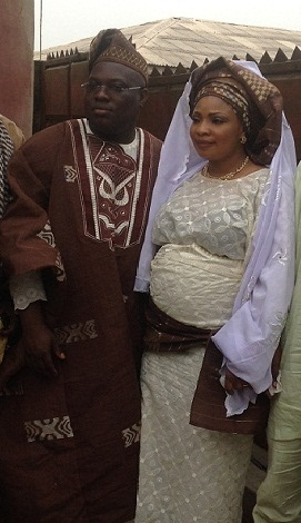 Laide and Mr Tunde Oriowo during their Nikkah ceremony in Lagos