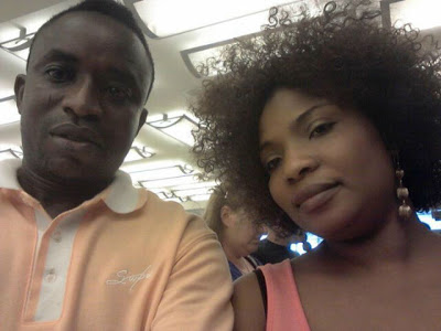 Laide with former hubby