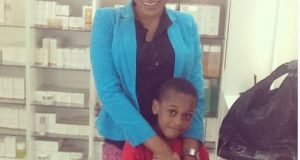 Oge Okoye and son