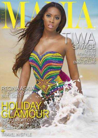 Sexy Tiwa Savage covers Mania magazine