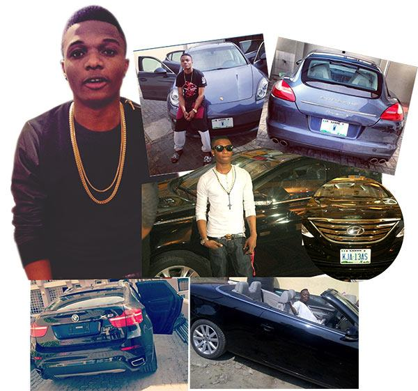 Wizkid and his Many cars