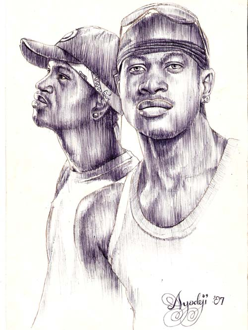 painting of Psquare by a fan