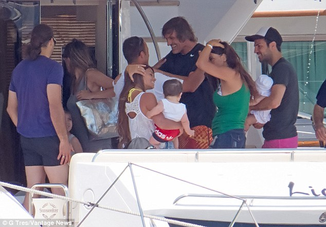 Family of Lionel Messi and Cesc Fàbregas
