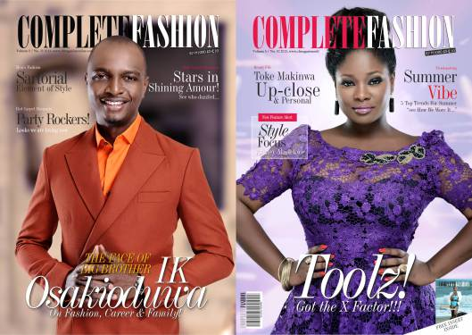 IK Osakioduwa & Toolz cover the new edition of Complete Fashion magazine