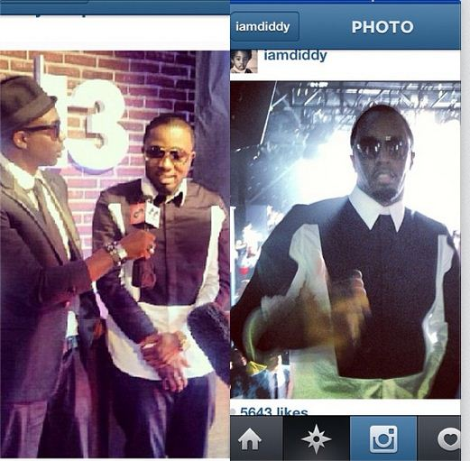 Ice Prince wears same Givenchy shirt as P Diddy to BET