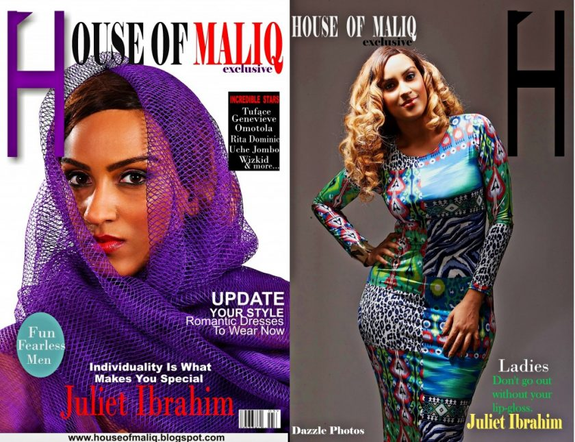 Juliet Ibrahim covers House Of Maliq exclusive july edition