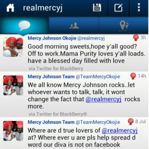 Mercy Johnson's subtle reply to Tonto Dike
