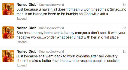 Nonso Diobi disses Tonto Dikeh over her Mercy Johnson tweets