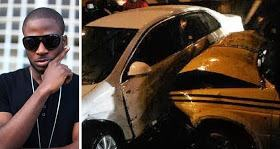 Photo- Singer Tunde Ednut involved in car accident