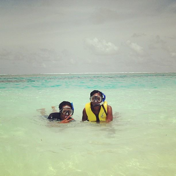 Tiwa Savage and Teebillz on holiday in Maldives