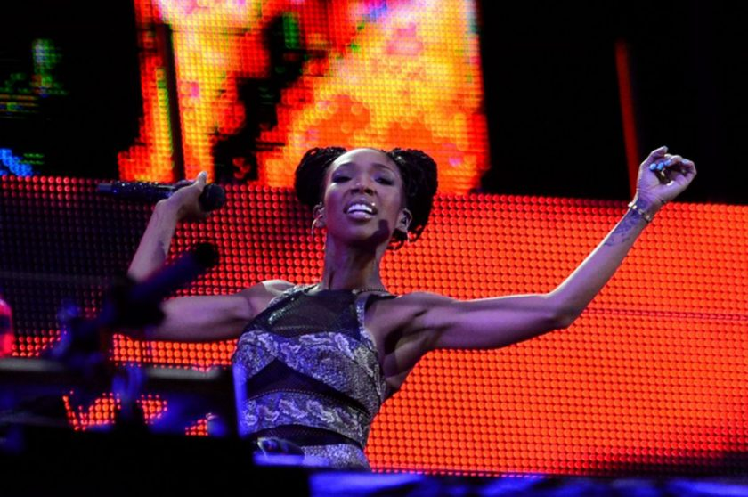 Brandy performed for empty stadium seats in SouthAfrica