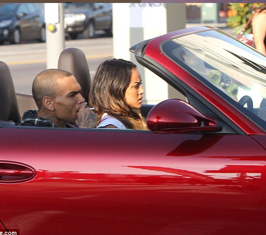 Chris Brown lets Karrauche ride his porshe