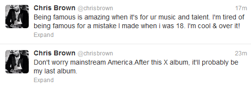 Chris Brown wants to quit music