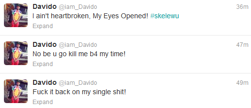Davido single again