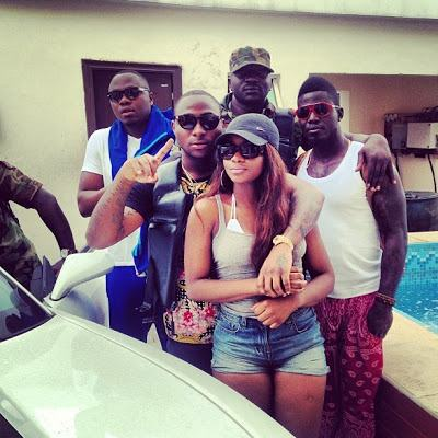 Davido takes girlfriend to beach