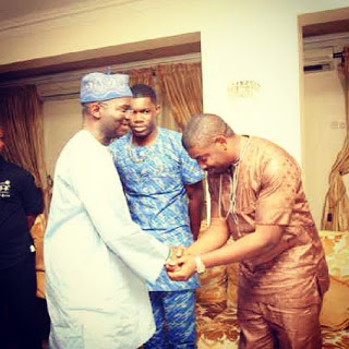 Don Jazzy pay condolence visit to Governor Fashola