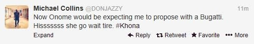 Don Jazzy's tweet after Peter Okoye's proposal