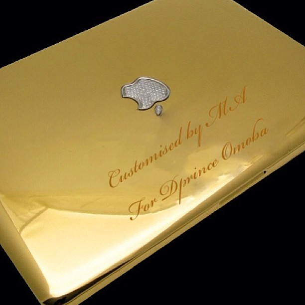 D'prince's $5,500 24CT Macbook Pro all gold