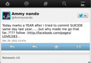 Nando had once attempted suicide