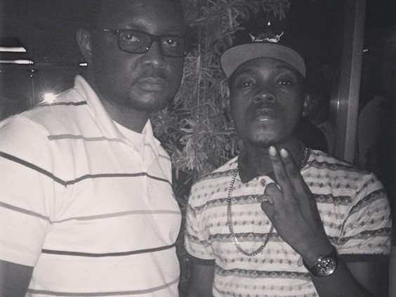 Olamide and Manager Tony Nwakalor