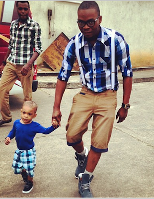 Olamide steps out with Kaffy's son