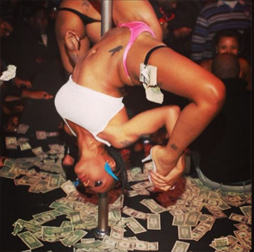 Peter psquare in Chicago strip club