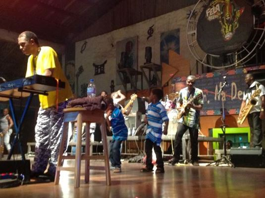 Positive Force band and Femi Kuti performing