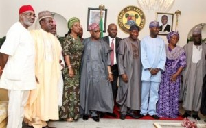 President Goodluck Jonathan, OBJ, others pay condolence visit to Governor Fashola