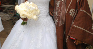 Taiwo Oyebanjo weds Cool FM OAP Dotun Ojuolape The Bride and her father