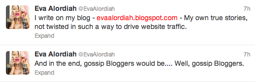 Tweet Fight between Eva Alordiah and Linda