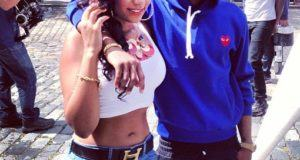 Wizkid spotted with a sexy chick on the streets of London