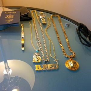 B_RED flaunts expensive jewelry collection