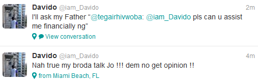Davido vents on twitter