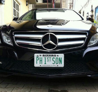 Duncan Mighty flaunts his Mercedes E-Class convertible with customized plate number