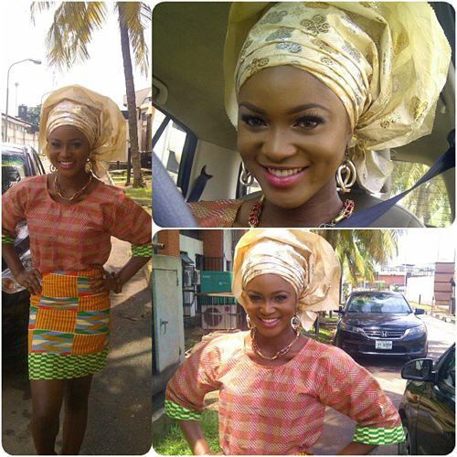 Eva Alordiah looking stunning in Traditional outfit