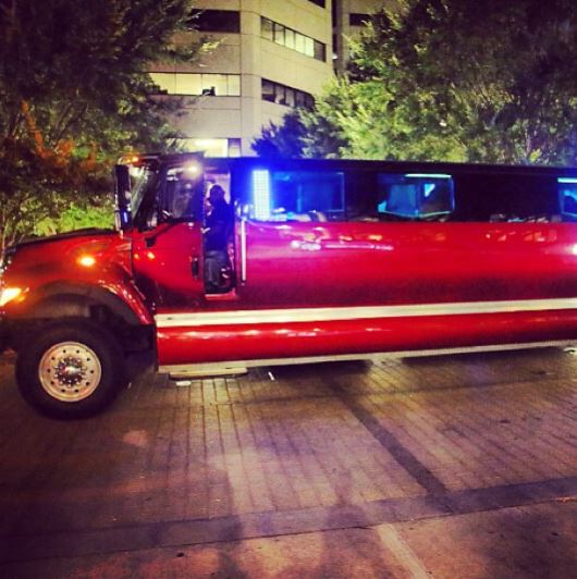 Psquare's luxurious limo truck