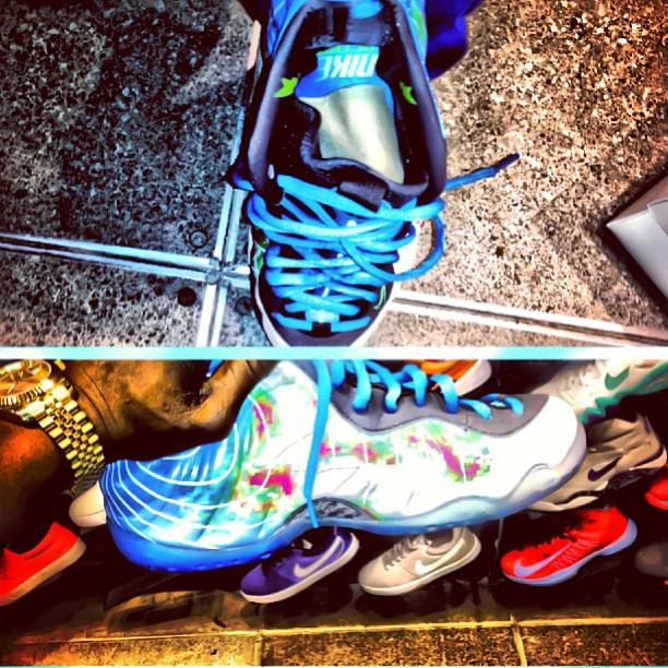Sean Tizzle Shows Off His sneakers