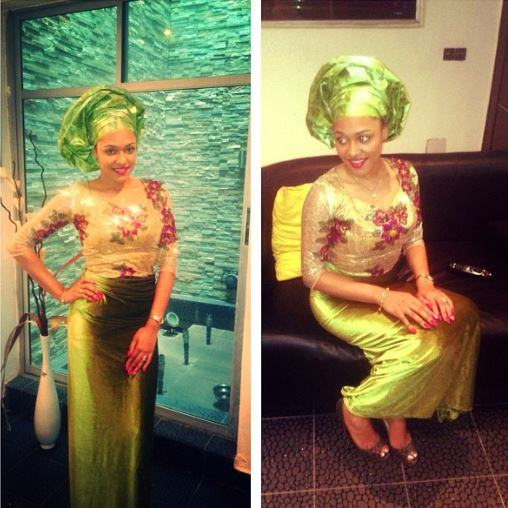 Tania Omotayo looking stunning in traditional outfit