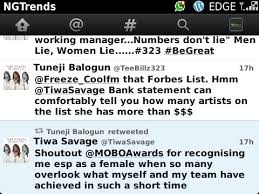 TeeBillz believes Tiwa Savage is richer than those listed by Forbes