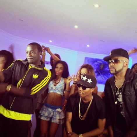 Akon joins Wizkid, BankyW for 'Roll It' music video