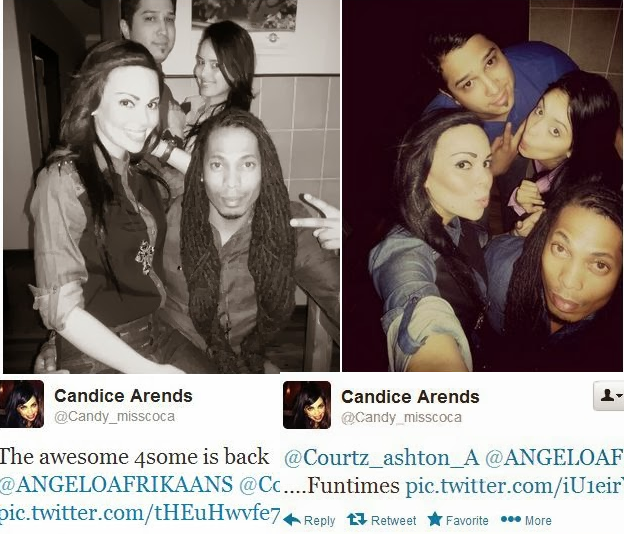 Angelo and Candice Arends with friends