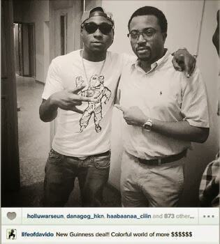 Davido and Olamide sign multi-million naira deal with Guinness Nigeria