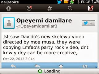 See reactions to Davido's new Skelewu video by Moe Musa