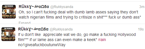 """""""F*ck your dumb ass"""" – Rukky Sanda blasts Nollywood movie haters"""