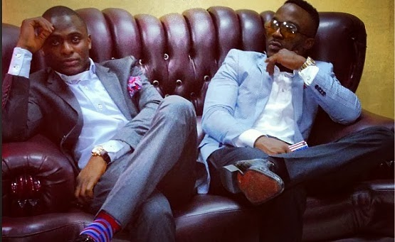 Iyanya & manager Ubi Franklin