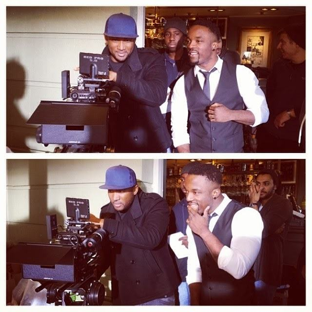 Pictures from Iyanya's Le Kwa Ukwu video shoot