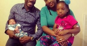 Julius Agwu shares his family's first photo