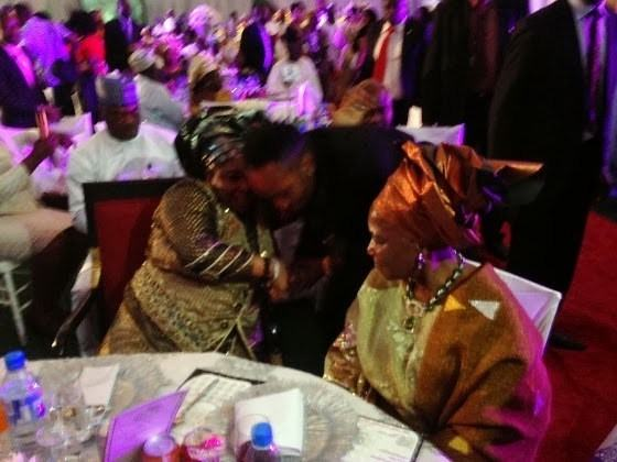 KCee pictured with the first lady Patience Jonathan